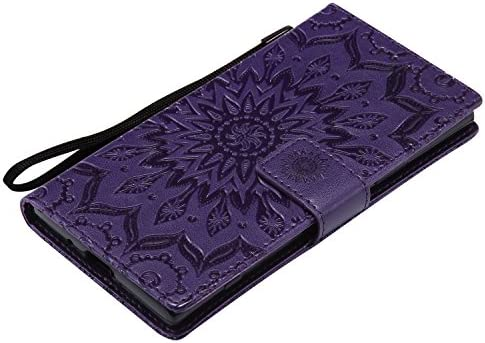 Docrax SONY Xperia XZ1 / docomo SO-01K / au SOV36 / SoftBank ケース 手帳型 スタンド機能 財布型 カードポケット ソニー エクスぺリアXZ1 手帳型ケース レザーケース カバー - DOKTU44590 紫