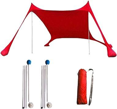 Tienda de pérgola portátil, sombrilla de Playa a Prueba de Viento, Tienda de campaña de 82.68 x 82.68 Pulgadas, con Anclajes de Arena, Refugio para sombrillas de Dosel,Red: Amazon.es: Deportes y aire