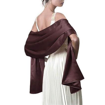SAFZES 2018 Satin Shawl Bufanda para Mujeres Vestidos de Noche 178 x 46cm Fiesta Larga Colorido