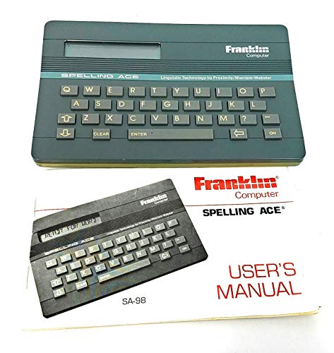 Franklin Computer Spelling Ace Gray Merriam Webster SA-98 V2 from Franklin