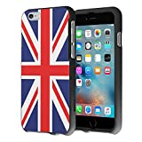 iPhone 6S Case, iPhone 6 Case, Capsule-Case Slim Fit Snap-on Black Hard Case for Apple iPhone 6S / iPhone 6 - (Union Jack Flag)