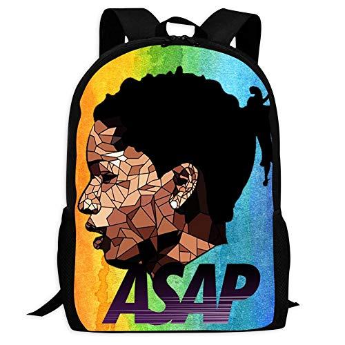 MAOXIANDER Rapper ASAP Rocky Long Live VSVP Backpack School Bag Student Bookbag for Girls Boys ()