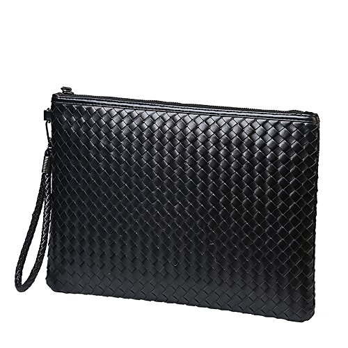 Men and Women Clutch weave Bag Business Small Phone Bags Cases for Lovers (Small, Black) by azmodo