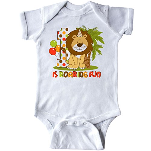 inktastic - Cute Lion 1st Birthday Infant Creeper 12 Months White fead
