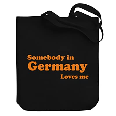 Teeburon SOMEBODY IN Germany LOVES ME Canvas Tote Bag