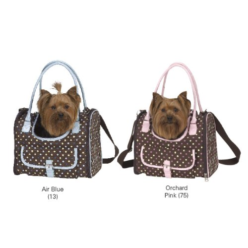 East Side Collection Pastel Polka Dot Carrier Pink Small (Collection Pet Carrier East Side)