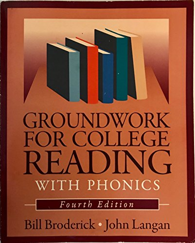 Groundwork For College Rdg W Phonics 4Th