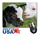 "MSD Natural Rubber Mouse Pad/Mat with Stitched Edges 9.8"" x 7.9"" Just born white goatling nannie IMAGE 31587116"