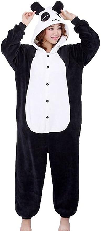 QUMAO Pijama Animal Panda Entero para Adultos Pijama Mono Animal ...