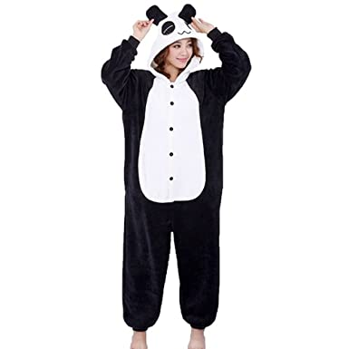qumao panda kostum erwachsene tier jumpsuits onesie pyjama nachthemd nachtwasche cosplay overall hausanzug fastnachtskostuem karnevalskostume