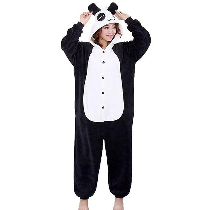 QUMAO Pijama Animal Panda Entero para Adultos Pijama Mono ...