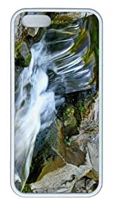 iPhone 5S Customized Unique Landscape Flowers Mountain Waterfall 26 New Fashion TPU White iPhone 5/5S Cases
