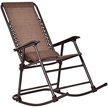 Amazon.com : Goplus Folding Rocking Chair Rocker Porch Indoor ...
