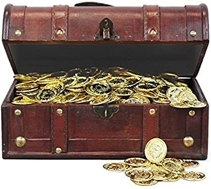 Large Pirate Treasure Chest Safe Storage//Coin//Money//Jewelry Case Lockable