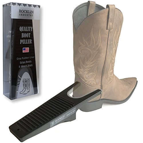 - Rocklin Industry Industrial Boot Jack with Non-Staining Rubber Grip | One Size Fits All | Large 'U' Opening | Plastic Composite Boot Puller | Won't Stain | Remove Cowboy and Rubber Boots Easily