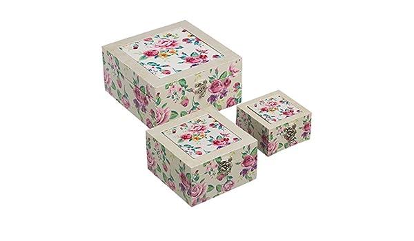 Cajas decoradas tender cerámica/lienzo/mdf: Amazon.es: Hogar