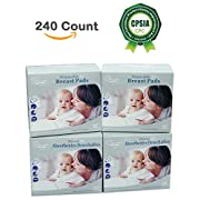 Oleh-Oleh Disposable Breast Pads for Breastfeeding 240 Count (4 Pack, 60 Count Each) (4 Pack)