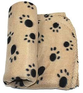 Amazon.com : PAWZ Road Lovely Pet Paw Prints Fleece
