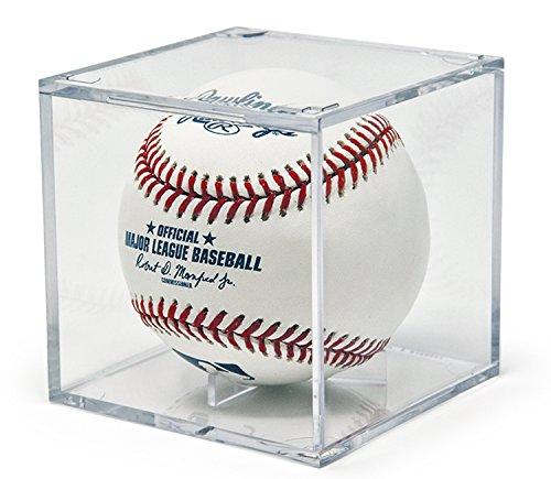 Acrylic Baseball Cube - THE ORIGINAL BALLQUBE UV Grandstand Baseball Display