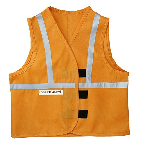 Thunder Bug (InsectGuard – Permethrin Treated Insect Repellent Vest Effective against Tick, Mosquitoes, Flies and More with Reflective Strips (Blaze Orange) Large/XtraLarge)