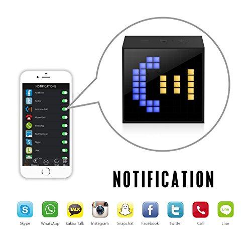 Divoom Divoom timebox Mini Portable sleepaid Smart Alarm Clock with app programmable, 2.4 Ounce