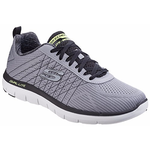 2 The On Grey Mens Black Flex Haps 0 Light Trainers Slip Advantage Skechers wXOUqxa