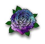 Vinyl Junkie Graphics Beautiful Rose Sticker - 14 Custom Tye dye Patterns (Starry Sky)