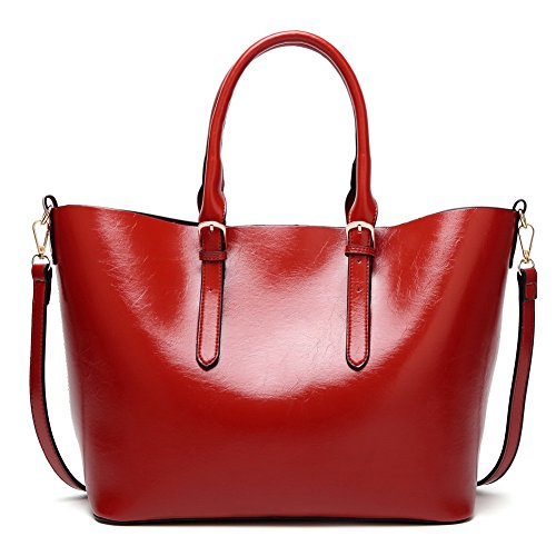 Donna Tracolla Voguezone009 Tela Borse A Cerniere Rosso Casuale Di Luccichio dnW78