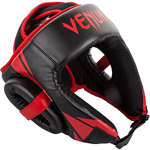 Venum Challenger Open Face Headgear - Black/Red, One Size