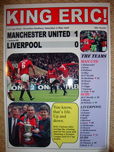Manchester United 1 Liverpool 0 - 1996 FA Cup final - souvenir print (Ryan Giggs Manchester United)