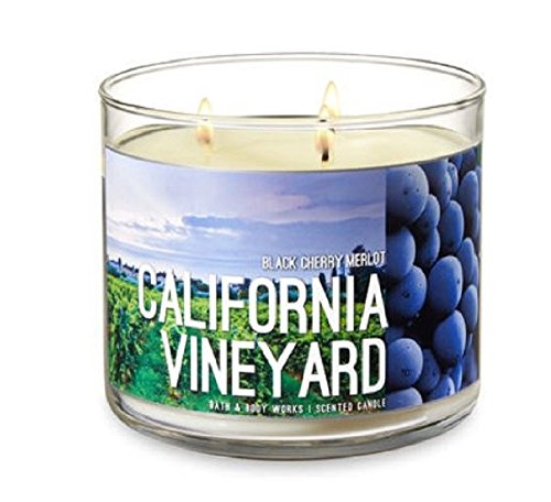 Bath and Body Works Black Cherry Merlot Candle - California Vineyard 14.5 Ounce 3 Wick Candle