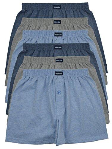 MioRalini TOPANGEBOT 12 oder 6 Boxershorts farbig weich & locker in neutralen Farben klassischen Unifarben Herren Boxershort M L XL 2XL 3XL 4XL