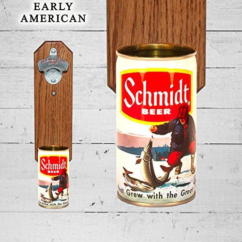 Opener with Vintage Schmidt Ice Fisher Beer Can Cap Catcher ()