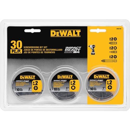 DEWALT DW2155 IMPACT READY 3 Can Screwdriving Bit Set 30-Piece