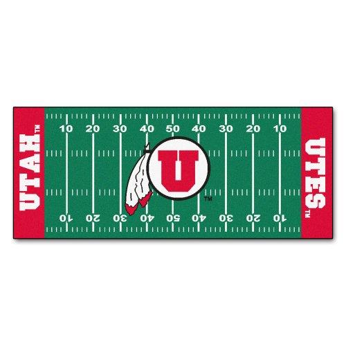 FANMATS NCAA University of Utah Utes Nylon Face Football Field Runner