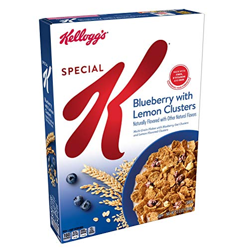 Special K Breakfast Cereal, Blueberry with Lemon Clusters, Low Fat, Good Source of Antioxidants, 12.3 oz Box ()