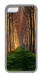 Path Lined With Trees Custom Design iPhone 5c Case and Cover - TPU - Transparent