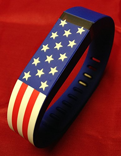 Large Stars & Stripes American US USA Flag Band for Fitbit Flex -Stars Glows at Night /No Tracker/ Replacement Band and Metal Clasp