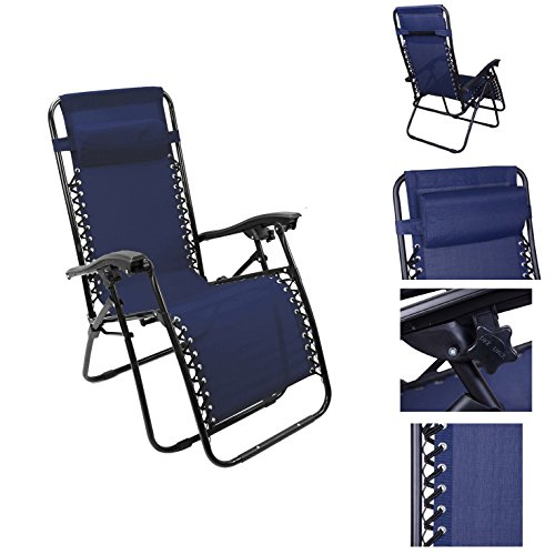 Magshion single lounge chair recliner reclining patio pool for Big and tall chaise lounge