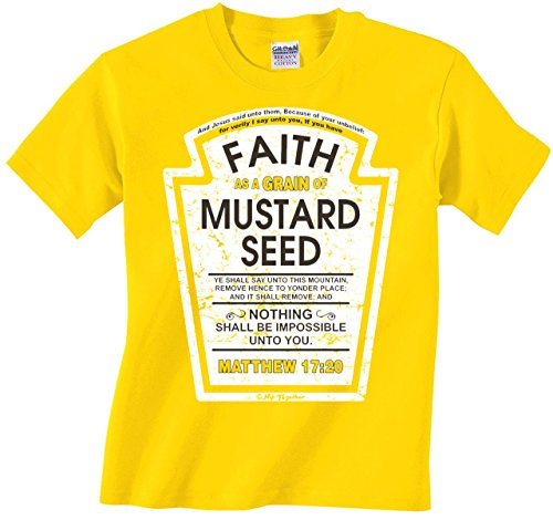 Faith as a Grain of Mustard Seed Kids Christian Parody T-Shirt (Youth Small)