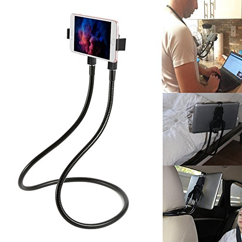 (Lazy Neck Phone Holder Hand-free Rotating Vertical Horizontal Gooseneck Multiple Function Mounts - for Cell Phone,Tablet,iPad,Kindle,iPhone,Samsung,and Other Smartphone Devices Multi Angle Holder)