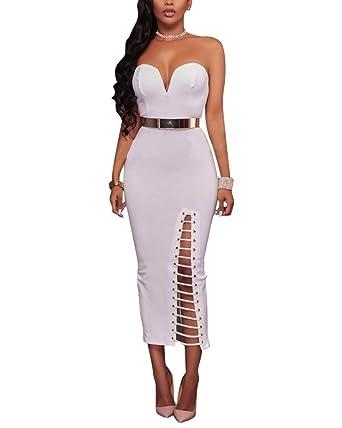 Mujer Elegante Parte Superior del Tubo Falda Vestido: Amazon.es ...