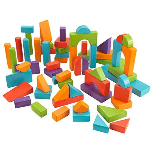KidKraft 60 PC Wooden Block Set - Bright Colors