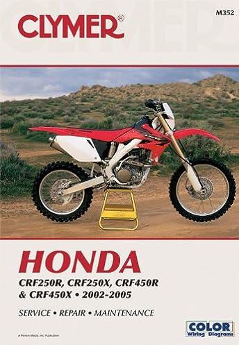 honda crf250r 2004 crf250x 2004 and crf450r 2002 2004 clymer rh amazon com 2005 honda crf250r service manual pdf 2005 honda crf250r service manual