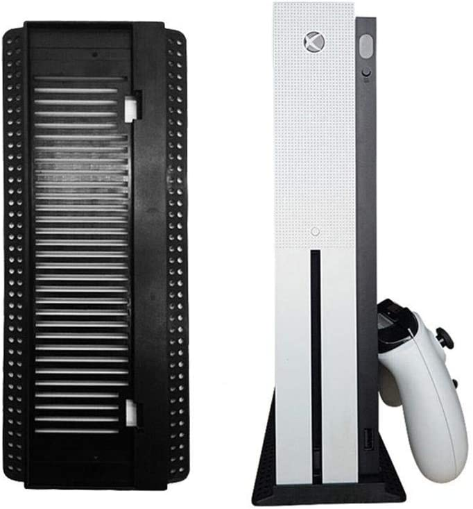 Ting-Times Cooling Vertical Stand for Xbox One S, Vertical Dock Mount Cradle Holder Steady Base with Built-in Cooling Vents and Non-Slip Feet: Amazon.es: Hogar