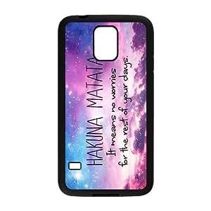 Stylish Lion King Hakuna Matata Design Plastic Case Protector for Samsung Galaxy S5