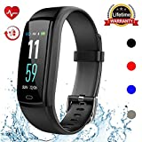 Mgaolo Fitness Tracker HR, Activity Tracker Waterproof Smart Watch Wristband with Heart Rate Blood Pressure Pedomete for Android and iPhone (Black)