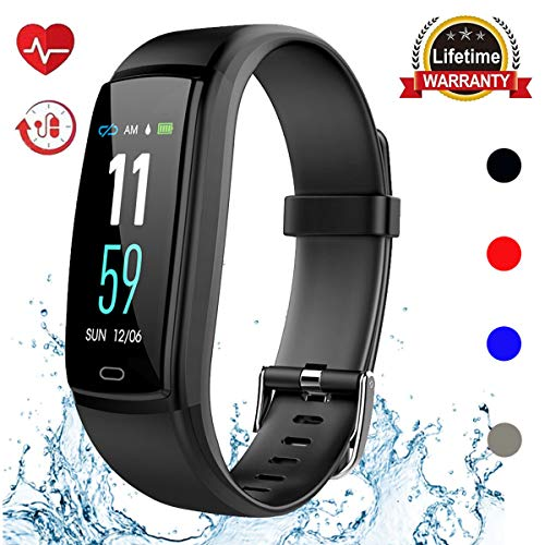 Mgaolo Fitness Tracker HR, Activity Tracker Waterproof Smart Watch Wristband with Heart Rate Blood Pressure Pedomete for Android and iPhone (Black) by Mgaolo (Image #9)