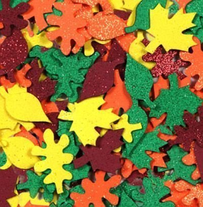 Fall Leaves Table Scatters Foam Glitter 60 Count