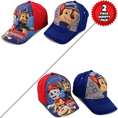 best service 7db40 b0bb7 Nickelodeon Little Boys Paw Patrol Character Cotton Baseball Cap, 2 Piece  Design Set, Age